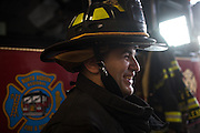 Probationary Fire fighter and veteran Kamil Mizinski at the 16th Street Fire House of the North Hudson Regional Fire and Rescue in Union City, NJ on November 07, 2013. Many vets say after the military they're still looking for a career with a sense of public service. Some vets have found that at the North Hudson Regional Fire and Rescue in New Jersey.