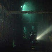 Divers inside the F2, Scapa Flow.