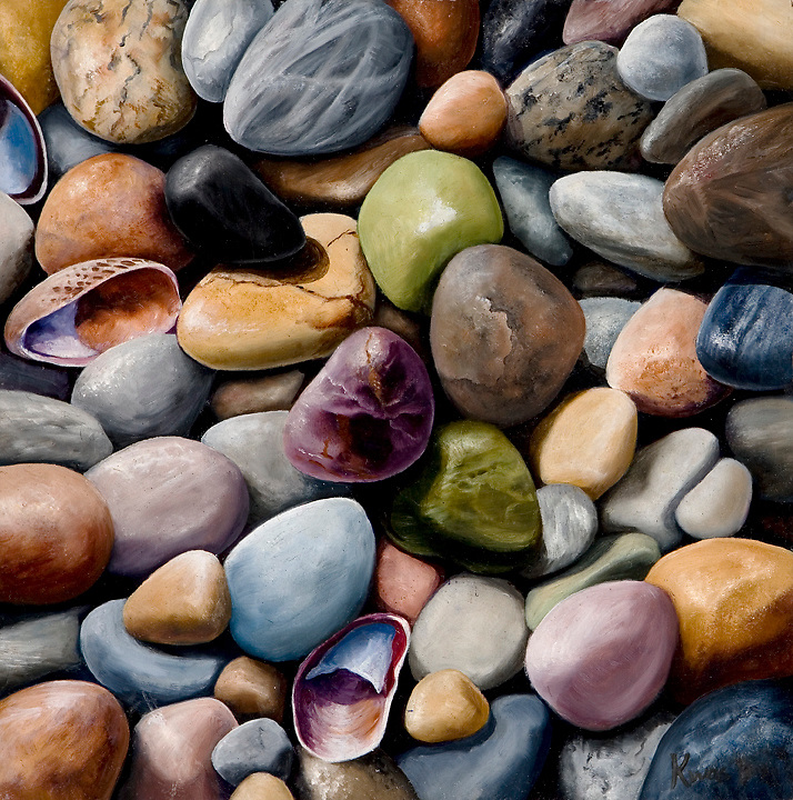 The glacier-formed shores of Lake Michigan hold an abundance of colorful pebbles. Nature's candy jar! <br /> <br /> Original sold; Print Pricing, see Flight A.