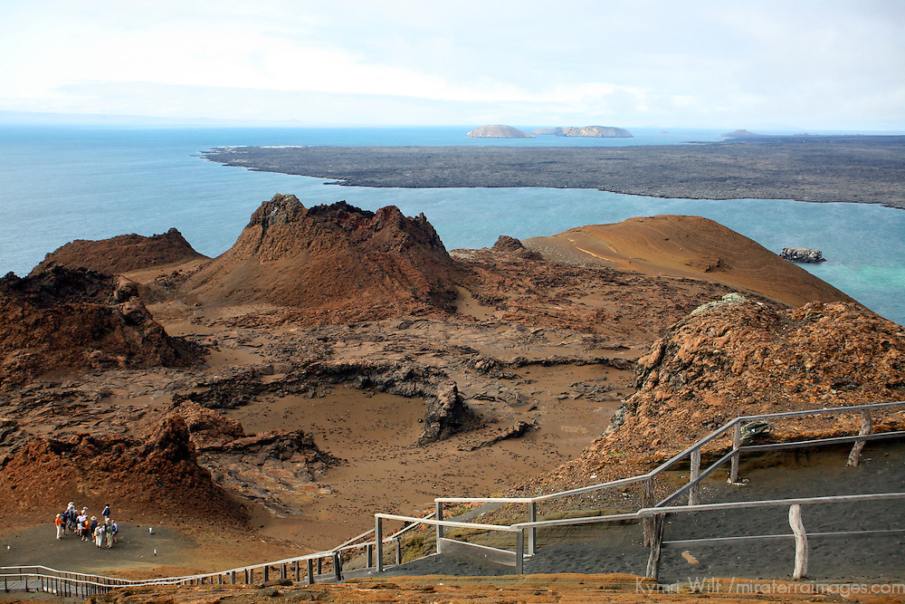 Scenic overlook of Bartholomew Island in the Galapagos, Ecuador, South America.