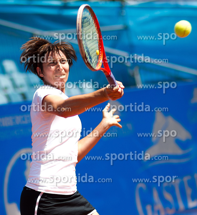 17.07.2013, Hotel Europaeischer Hof, Bad Gastein, AUT, WTA Tour, Nuernberger Gastein Ladies 2013, im Bild Yvonne Meusburger (AUT) // during main round of Nuernberger Gastein ladies tennis tournament of the WTA Tour at the Hotel 'Europaeischer Hof' in Bad Gastein, Austria on 2013/07/17. EXPA Pictures © 2013, PhotoCredit: EXPA/ Juergen Feichter