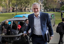 © Licensed to London News Pictures. 20/04/2017. London, UK. Labour Party leader JEREMY CORBYN arrives at Church House to deliver his first major election campaign speech. Campaigning has begun for a snap election which was called by British Prime Minister Theresa May, earlier this week. Photo credit: Peter Macdiarmid/LNP