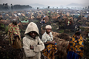 The Chefferie IDP site, home to some 4,000 people, in the town of Kichanga, North Kivu, on Friday, Feb. 15, 2008.