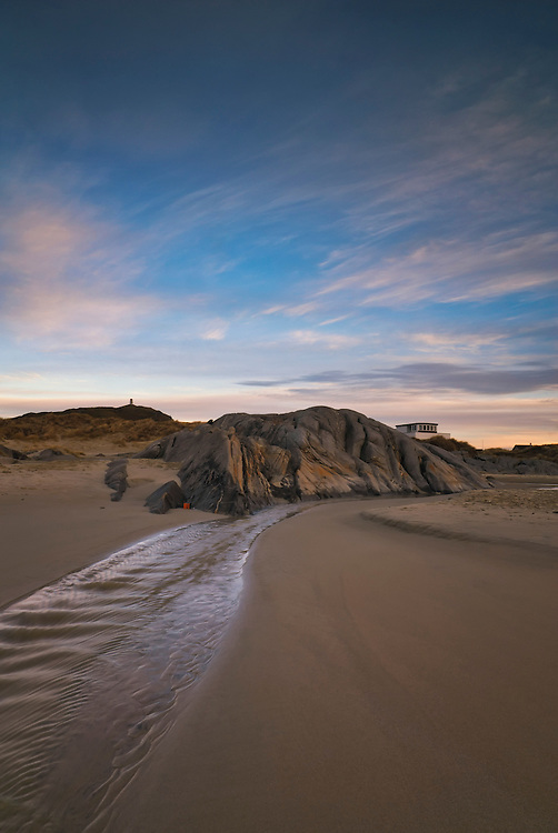 One of beaches of Jæren. This beach is Hellestø in Sola municipality of Sola in Rogaland county, Norway.