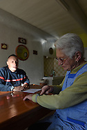 04/02/16 - SAINT BONNET LE CHASTEL - PUY DE DOME - FRANCE - Systeme de tele-assistance, boitier d alerte medicale relie au SDIS pour le maintien des personnes agees a leurs domiciles - Photo Jerome CHABANNE