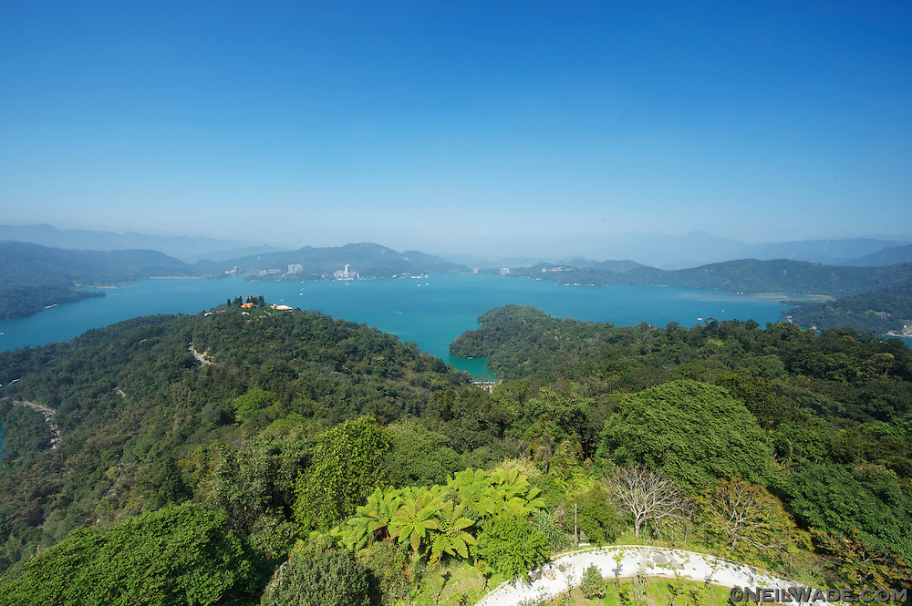 The view of Sun Moon Lake from Cien Pagoda is unbeatable.