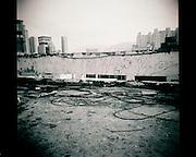 Abanonded apartment buidling, downtown Daegu, South Korea