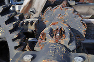 Old rusted driving gear, tooth-wheel, cogwheel, pinion