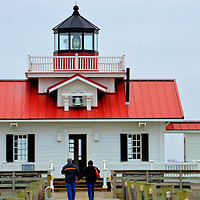 Roanoke Marshes Lighthouse in Manteo, North Carolina<br /> In Shallowbag Bay in Manteo, North Carolina, is a 2004 reconstructed lighthouse called Roanoke Marshes Light. Similar to a dozen screwpile lighthouses from the late 1800s, this one has a square, cottage-style construction. This area is also known for the &ldquo;Lost Colony.&rdquo;  They were a group of 100+ English colonists who landed here in 1587 but disappeared by 1590.