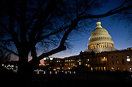 The U.S. Capitol on the night of President Barack Obama's State of the Union address on Tuesday, January 24, 2012 in Washington, DC.