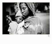 A young mother with her malnutritioned daughter, waiting outside the hospital in Kaga Bandoro... woman go to the hospital from miles away to try and save their children, often sick with malaria or malnutrition.The central African rep. has some of the world's worst child welfare indicators. The infant mortality rate is 112, and out of 1,000 children born in CAR, 171 will die before reaching the age of five. The five main child killers in CAR are malaria, diarrhoea, acute respiratory infections, malnutrition and measles – all preventable diseases. The Accelerated Child Survival and Development Strategy UNICEF is implementing aims to reach every newborn and child in every district with a set of priority interventions. Evidence shows that there are a number of known and affordable interventions that if implemented fully could prevent 63 per cent of current childhood mortality.