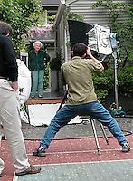 Tim shooting for Buck and Buck, Inc catalog.