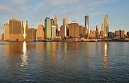 Sunrise in New York City.