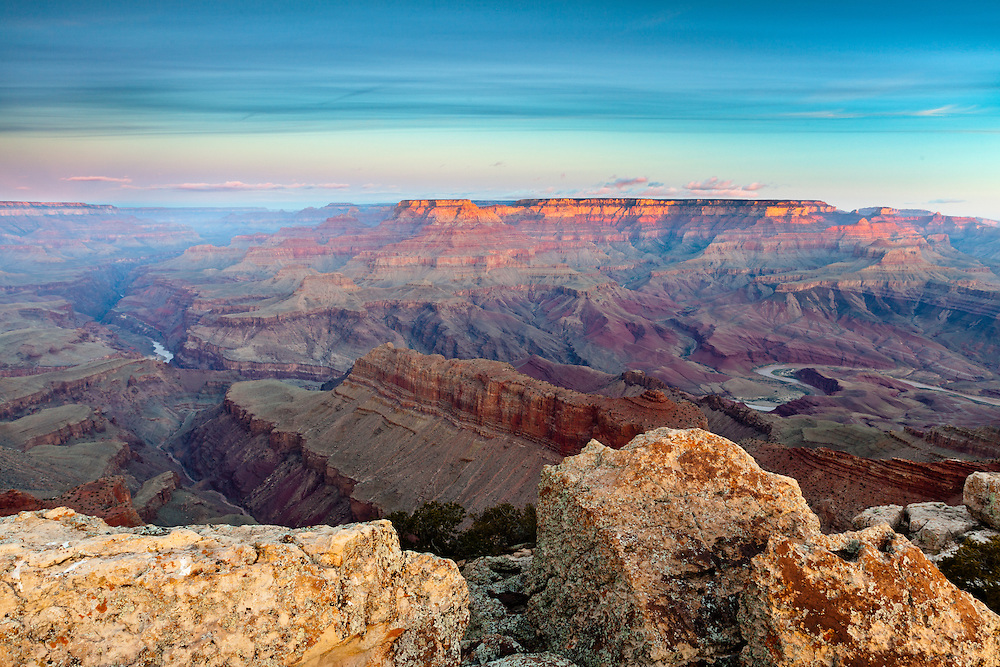 Sunrise from Lipan Point. Grand Canyon National Park.