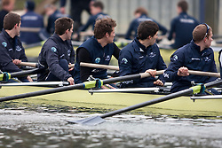 OUBC Blue Boat wait for ISIS during a training session at Wallingford.