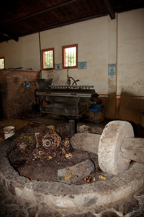 """Grinding Agave""- This stone grinder, called a tahona, is used in the tequila making process.  Photographed at a distillery near Puerto Vallarta, Mexico."