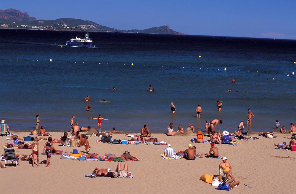 People at beach near Agay, Provence Alpes Cote d'Azur, France