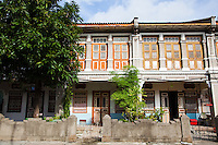 A shophouse is a style of architecture unique to Southeast Asia. This hybrid building form characterises many  towns in the region, especially Singapore and Malaysia.  By the mid-20th century, pastel colours (rose pink, baby blue, light yellow, etc) became popular, and they remain the colours that most people most strongly associate with these buildings.