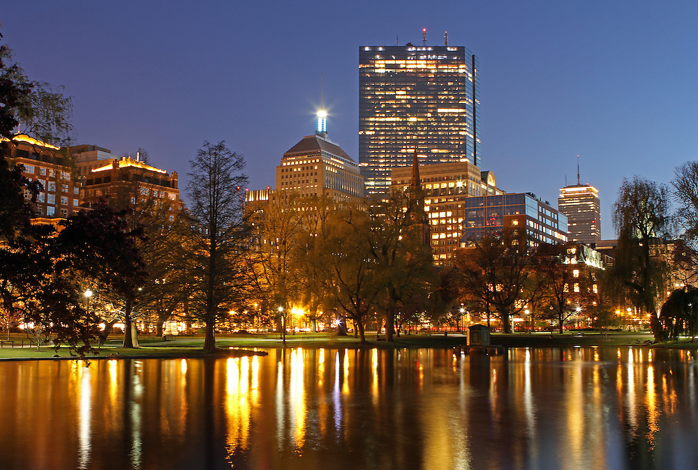 Boston skyline photography at twilight showing cityscape landmarks such as John Hancock building, Prudential Center and parts of the Public Garden captured on a magical spring night in May.<br /> <br /> This Boston spring photography picture of the famous skyline buildings is available as museum quality photography prints, canvas prints, acrylic prints or metal prints. Prints may be framed and matted to the individual liking and decorating needs:<br /> <br /> http://juergen-roth.artistwebsites.com/featured/the-hancock-and-the-pru-juergen-roth.html<br /> <br /> All photographs are available for digital and print use at www.ExploringTheLight.com. Please contact me direct with any questions or request.<br /> <br /> Good light and happy photo making! <br /> <br /> Juergen <br /> www.rothgalleries.com <br /> www.exploringthelight.com<br /> http://whereintheworldisjuergen.blogspot.com<br /> @NatureFineArt<br /> https://www.facebook.com/naturefineart