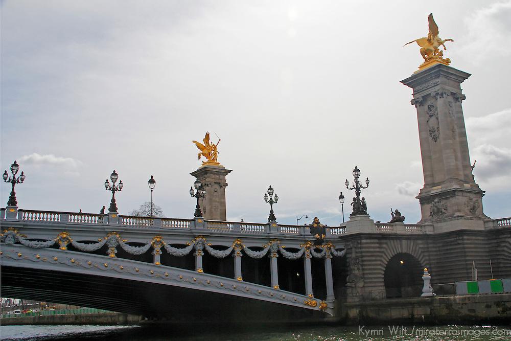 Europe, France, Paris.  Pont Alexandre III bridge, a historic monument in Paris.
