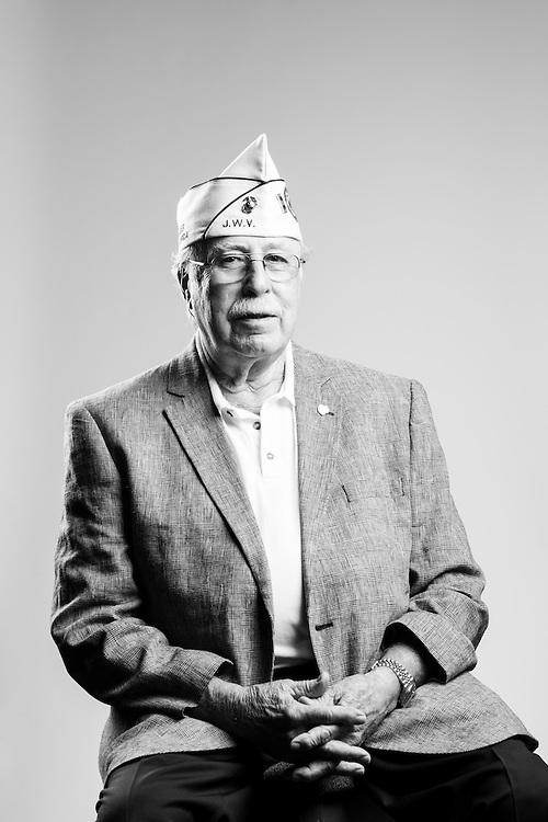 Morry Goldfarb<br /> Marine Corps<br /> CWO-4<br /> Air Traffic Control<br /> Apr. 15, 1950 - Aug. 30, 1971<br /> Korean War<br /> Vietnam<br /> <br /> Veterans Portrait Project<br /> Charleston, SC<br /> Jewish War Veterans