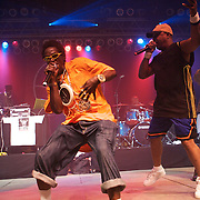 MANCHESTER, TN - JUNE 12:   Flavor Flav and Chuck D of Public Enemy performs at the 2009 Bonnaroo Music and Arts Festival on June 12, 2009 in Manchester, Tennessee. Photo by Bryan Rinnert/3Sight Photography