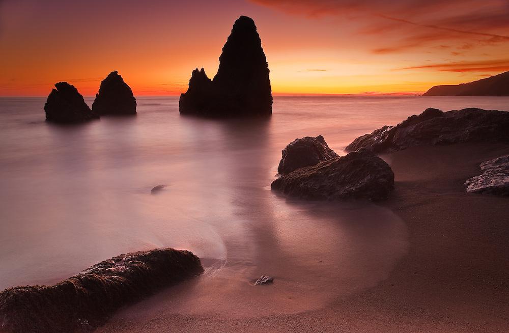 Rodeo beach at Marin Headlands near Sausalito, Ca.