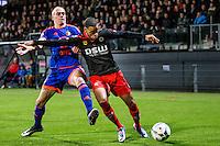 ROTTERDAM - SBV Excelsior - Feyenoord , Voetbal , Seizoen 2015/2016 , Eredivisie , Stadion Woudestein , 28-11-2015 , Speler van Feyenoord Rick Karsdorp (l) in duel met Excelsior speler Brandley Kuwas (r)
