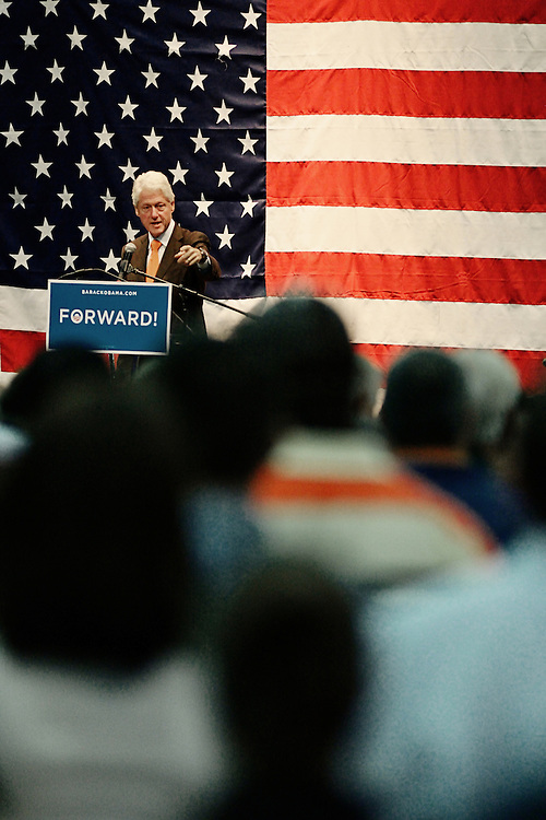 Former President Bill Clinton Visits St. Petersburg, FL for a grassroots event in support of Barack Obama.