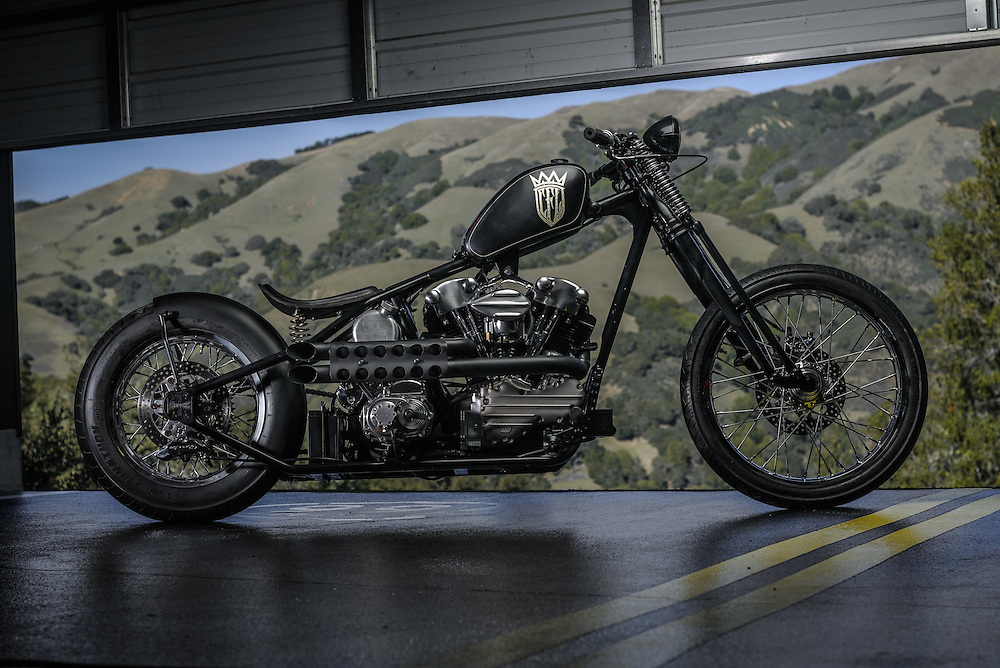 CFL knucklehead chopper in Northen California | personal collection of James Hetfield