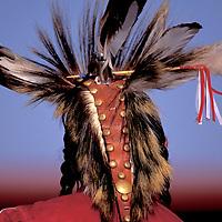 Porcupine Hairdress, North American Indian days, Blackfeet Indian Reservation, Browning, Montana, USA