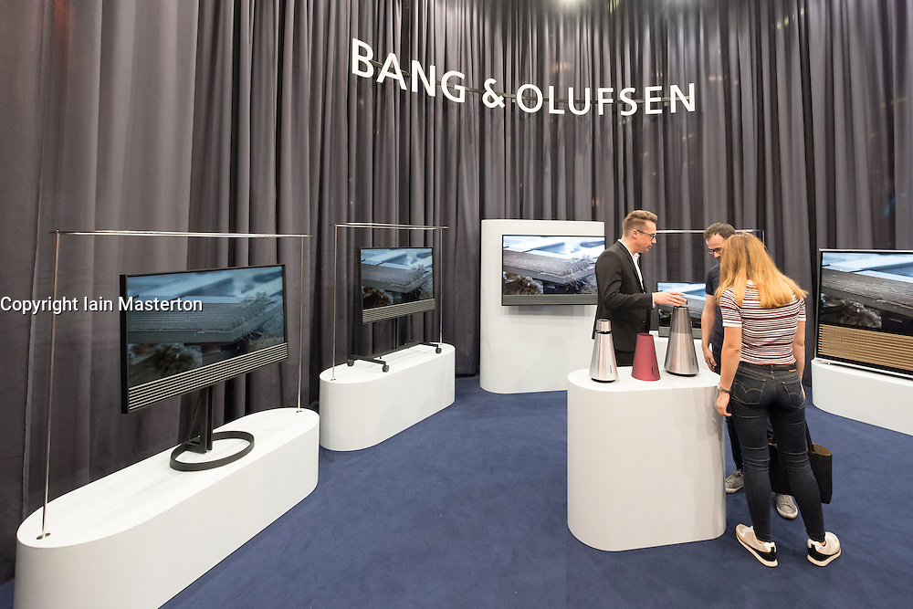 Bang and Olufsen stand at 2016  IFA (Internationale Funkausstellung Berlin), Berlin, Germany