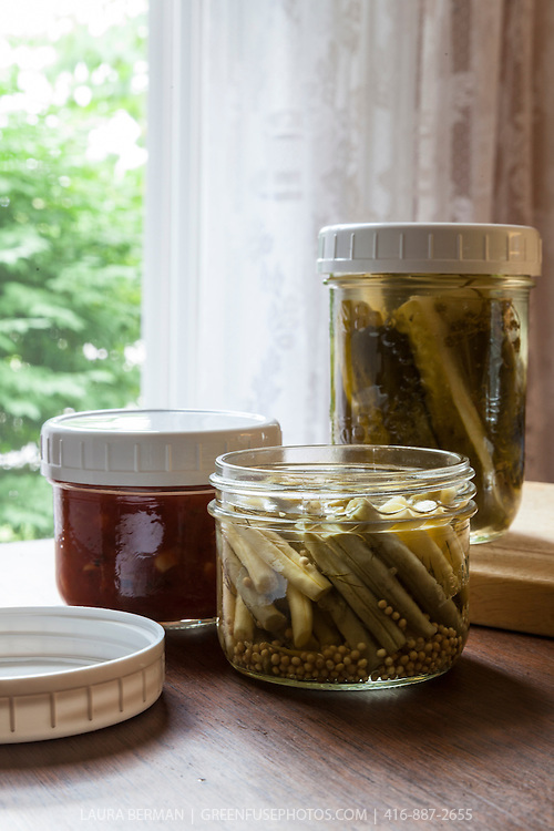 Bernardin canning jars with wide mouth size plastic storage lids.