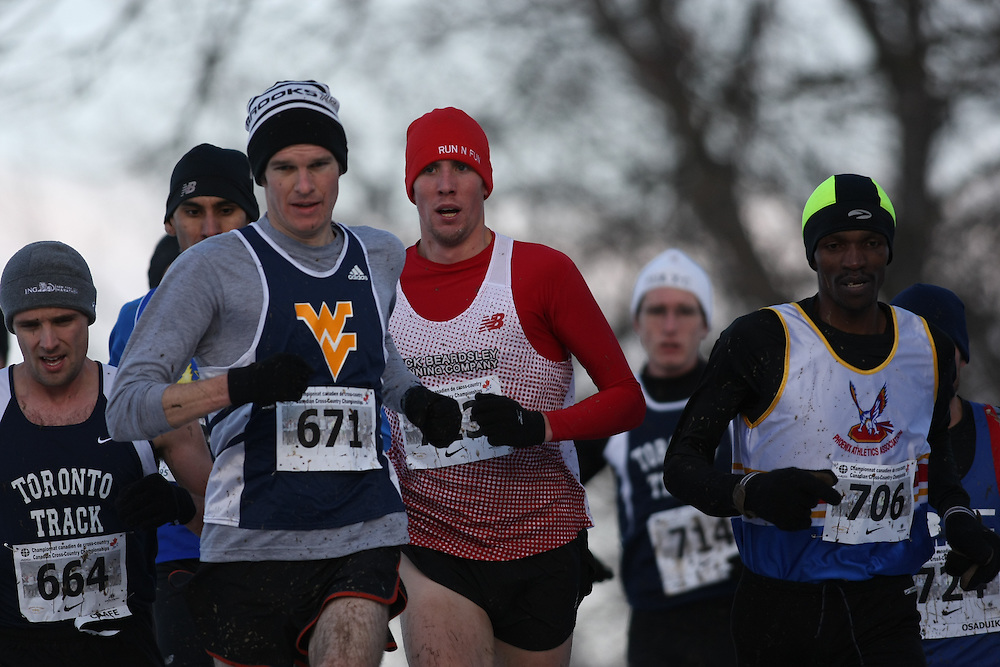 Guelph, Ontario ---29/11/08---  JAY DOLMAGE competes in the senior men's race at the 2008 AGSI Canadian Cross Country Championships in Guelph, Ontario, November 29, 2008..Sean Burges Mundo Sport Images
