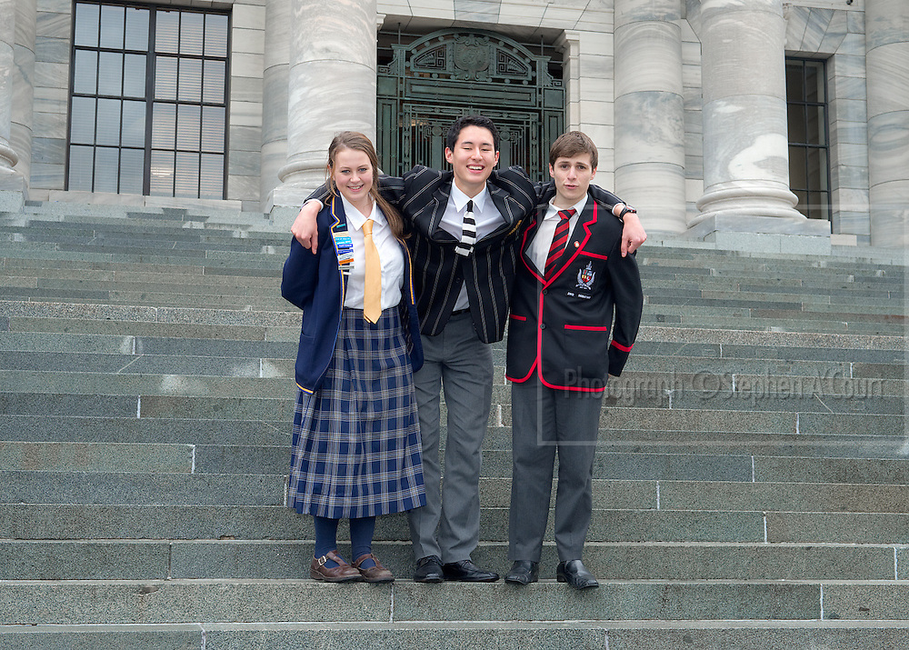Debating teams at the NZ Schools' Debating Championships 2013.  Photo credit: Stephen A'Court.  COPYRIGHT ©Stephen A'Court