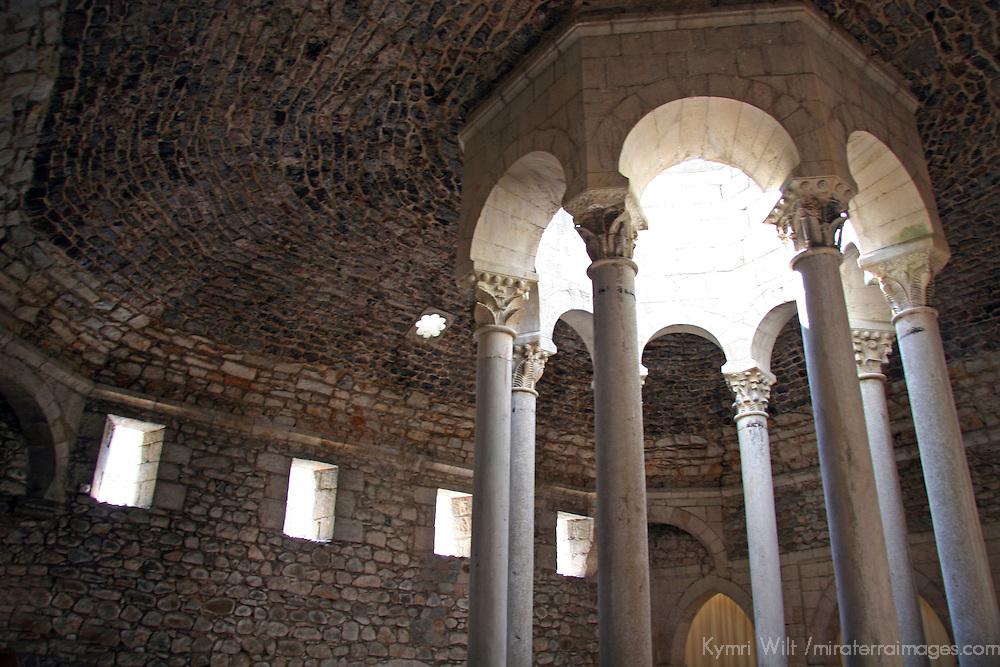 Europe, Spain, Girona. Arab Baths of Girona.