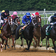 I'm a Chatterbox & Jockey F. Geroux, left, wins the $750K purse during The 79th Delaware Handicap Saturday, June. 16, 2016 at Delaware Park Race Track in Wilmington Delaware.