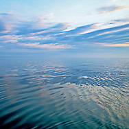 Long Island Sound, Connecticut & New York, North Fork, sunrise, water relection