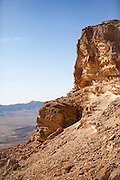 Ramon Crater in the Negev Desert, Israel This large depression at the peak of Mount Negev in the Negev Desert, Israel, is not an impact crater, but an erosion cirque or makhtesh. It is the largest makhtesh in the world, measuring 40 kilometres in length and between 2 and 10 kilometres in width.