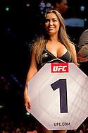 8-5-2016 rondemiss vrouw ROTTERDAM - Mixed Martial Arts - UFC Fight Night - Germaine de Randamie v Anna Elmose - 8/5/16 - Germaine de Randamie celebrates after winning her fight. in ahoy rotterdam COPYRIGHT ROBIN UTRECHT
