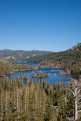 """Echo Lakes 2"" - Photograph of Upper and Lower Echo Lakes, located at the edge of Desolation Wilderness, Tahoe."