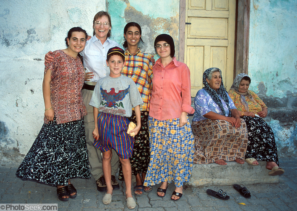 """Meeting a friendly Turkish family in Amasya, Central Turkey. Published in """"Light Travel: Photography on the Go"""" book by Tom Dempsey 2009, 2010. For licensing options, please inquire."""