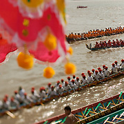 Cambodians prepare to compete in the annual water festival in Phnom Penh, which is the biggest festival in the country.