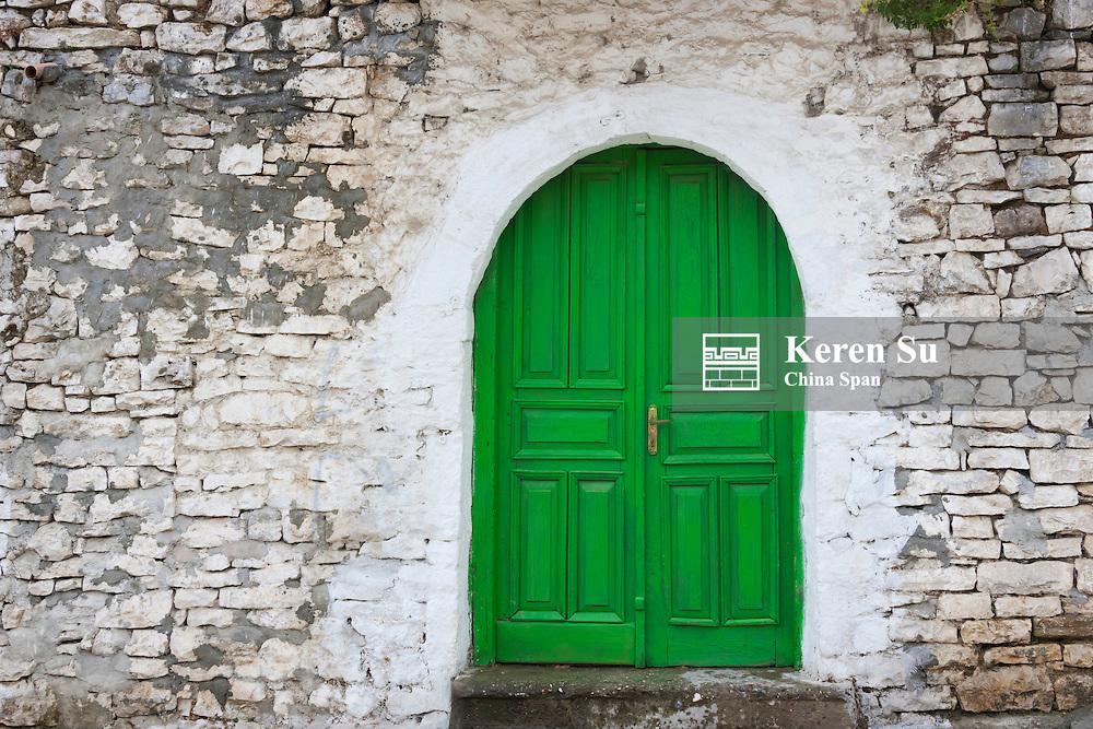 Door of an old house, Berat (UNESCO World Heritage site), Albania