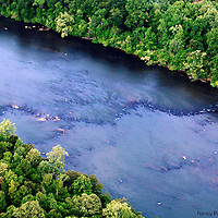 Authenticated Native American fish trap, Nation Ford Crossing, Catawba River. It is on the National Historic Record