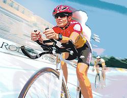 bicycle racer rider velodrome speed streak fast