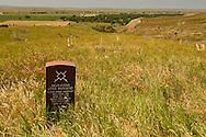 Little Bighorn Battlefield National Monument, Montana, Cheyenne warrior marker