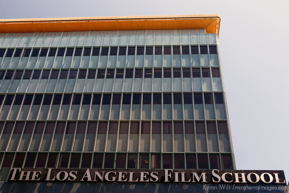 USA, California, Los Angeles. The Los Angeles Film School building on Hollywood Boulevard.
