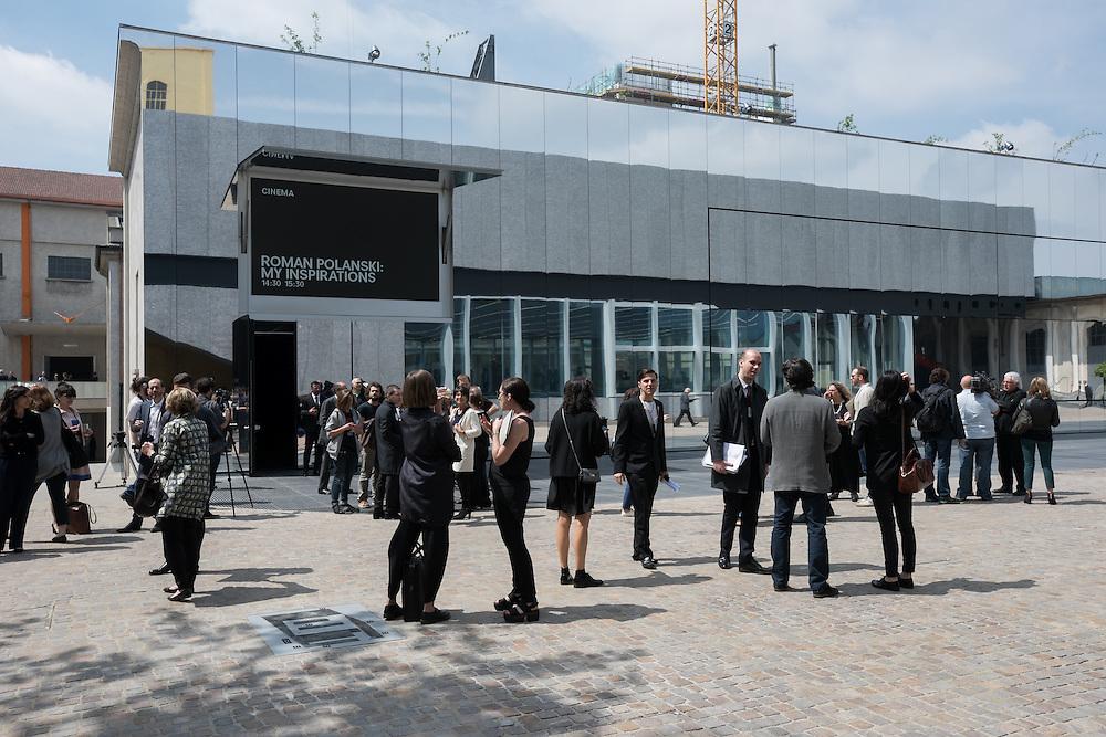 Foto Piero Cruciatti / LaPresse<br /> 02-05-2015 Milano, Italia<br /> Cronaca<br /> Fondazione Prada - Anteprima stampa <br /> Nella Foto: Vista generale dei nuovi spazi della Fondazione Prada<br /> <br /> <br /> Photo Piero Cruciatti / LaPresse<br /> 02-05-2015 Milano, Italy<br /> News<br /> Fondazione Prada - Press preview <br /> In the Photo: Fondazione Prada - Press preview