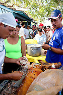 Ham sandwich stand in Niquero, Granma Province, Cuba.